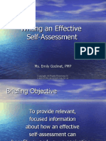 Writing an Effective Self-Assessment