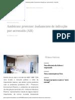 Ambiente protetor_ isolamento de infecção por aerossóis (AII) - Portal EA