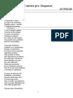 Kaplan Cantata Pra Alagamar Texto