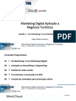 MARKETING DIGITAL APLICADO A NEGÓCIOS TURÍSTICOS  - S1 Do Marketing 1.0 ao Marketing Digital