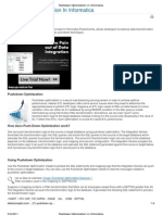 Pushdown Optimization In Informatica