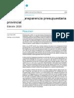 Índice de Transparencia Presupuestaria Provincial 2020