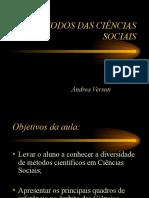 Métodos das Ciências Sociais