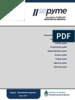 Presentacion Programa Sepyme actualización MARZO 2011