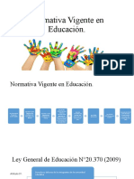 Normativa Vigente en Educación