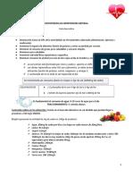 Dietoterapia en Hipertensión Arterial
