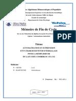Automatisation Et Supervision d'Un Chargeur d'Etuis d'Emballage Pour La Remplisseuse Du Lait (UHT) Combibloc CFA 312