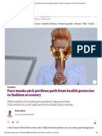 Face masks pick perilous path from health protector to fashion accessory _ Fashion _ The Guardian