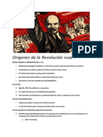 Orígenes de La Revolución Rusa