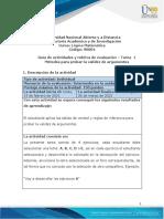Guia de actividades y Rúbrica de evaluación - Unidad-1-Tarea -1 - Métodos para probar la validez de argumentos (1)