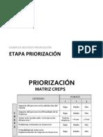 Matrices Priorización