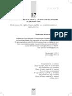 pAChA MAMA- os direitos dA nAturezA e o novo ConstituCionAlisMo nA AMériCA lAtinA