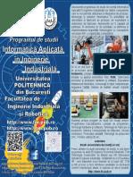 Specializarea Informatica Aplicata in Inginerie Industriala Politehnica Bucuresti