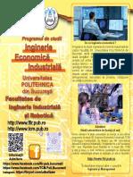 Specializarea Inginerie Economica Industriala Politehnica Bucuresti