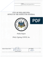 OIG Investigation of Philadelphia Department of Public Health and Philly Fighting COVID Relationship Reveals Procedural Deficiencies, Lack of Transparency