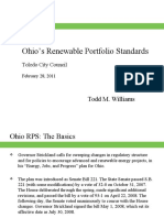 Ohio's Renewable Portfolio Standards