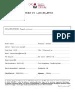 Dossier de Candidature ARCADE Tertiaire