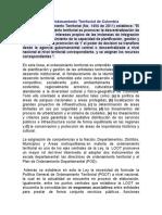 Ley Orgánica de Ordenamiento Territorial de Colombia