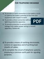 Earthing for Telephone Exchange