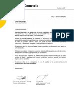 Carta de invitación a Rafael López Aliaga.