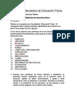 Trabajos Adeudados de Educación Física - Luis Favio Sánchez Rafailo - 4 A