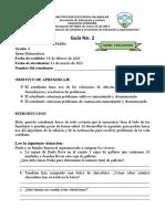 Guía No. 2 Grado 4 Matemáticas