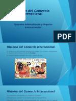 Historia Mercadeo Internacional