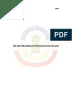 Draft Cbi Act2010