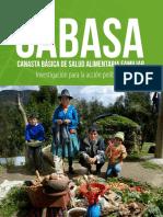 Canasta Basica de Salud Alimentaria Familiar CABASA