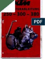 KTM 250-300-380 Reparaturanleitung