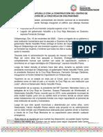 16-11-2020 CUMPLE HÉCTOR ASTUDILLO CON LA CONSTRUCCIÓN DEL CENTRO DE CAPACITACIÓN DE LA CRUZ ROJA EN CHILPANCINGO