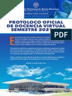 Protocolo Docencia Virtual UASD 2021-10
