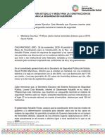 26-11-2020 EVALÚA GOBERNADOR ASTUDILLO Y MESA PARA LA CONSTRUCCIÓN DE LA PAZ ACCIONES PARA LA SEGURIDAD EN GUERRERO
