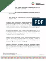 24-11-2020 PRESIDE GOBERNADOR ASTUDILLO MESA DE COORDINACIÓN PARA LA CONSTRUCCIÓN DE LA PAZ EN GUERRERO