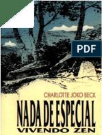Charlotte Joko Beck - Nada de especial - Vivendo Zen