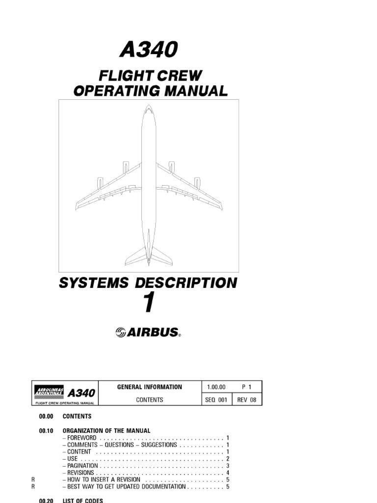 airbus a340 flight crew operating manual volume1 systems description rh scribd com airbus a380 flight crew operating manual airbus flight crew operating manual