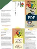Ferst Center Summer Camp Brochure 2011