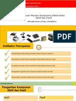 Afif Faqih Arrazin_11201803554_Macam-Macam Komponen Elektronika Aktif Dan Pasif