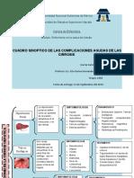 CUADRO SINOPTICO DE LAS COMPLICACIONES AGUDAS DE LAS CIRROSIS