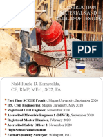 Introduction to Construction Materials and Method of Testing