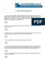 Questões sobre noções de admin publica