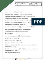 Devoir de Contrôle N°1 - Math - Bac Mathématiques (2017-2018) Mr Bouzouraa.Anis