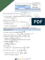 Devoir de Contrôle N°1 - Math - Bac Mathématiques (2017-2018) Mr Elabidi Zahi