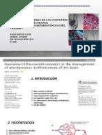 2020 Descripción General de Los Conceptos Actuales en El Manejo de Malformaciones Arteriovenosas Del Cerebro. Dr Tafur
