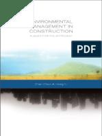 ENVIRONMENTAL MANAGEMENT Environmental Management in Construction a Quantitative Approach