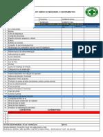 Formulário Check list Máquinas e Equipamentos  VDA
