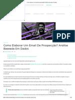 Como elaborar um email de prospecção_ Análise baseada em dados