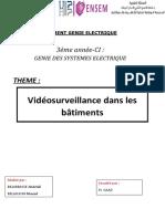 Rapport de videosurveillace