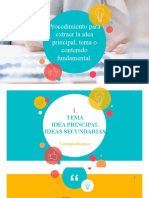 TEMA-IDEA PRINCIPAL