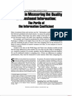 1983-06-31 Problems in Measuring the Quality of Investment Information